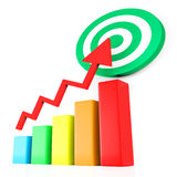 Target Report Represents Business Graph And Analysis Stock Image