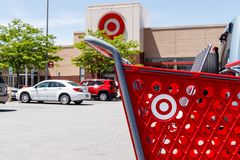 Kokomo - Circa May 2018: Target Retail Store Baskets. Target`s online sales are booming but proving costly to profits III. Target Retail Store Baskets. Target`s stock photography