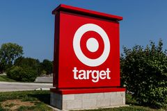 Westfield - Circa August 2018: Target Retail Store. Target Sells Home Goods, Clothing and Electronics VI. Target Retail Store. Target Sells Home Goods, Clothing royalty free stock image