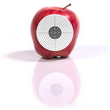 Target ripe apple Stock Photography