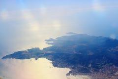 target980_0_ roślinność teren klamerkę barwiącą siwiejącą zawiera wyspy kartografuje siwieć ścieżki ulga cieniącego stan otaczają Zdjęcia Royalty Free
