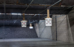 Target rows at a shooting range. Close up Stock Photography