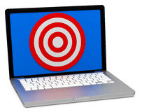 Target on a screen Royalty Free Stock Photography