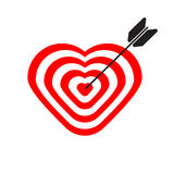 Target in shape of  heart Royalty Free Stock Photos