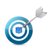 Target with shield in the middle. illustration Royalty Free Stock Photo