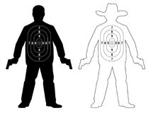 Target shoot human gun. Target shoot human gun, vector Royalty Free Stock Images