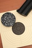 Target shooting. With a weapon Stock Photography