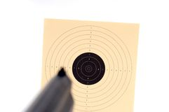 Target shooting. With a weapon Royalty Free Stock Image