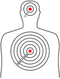 The target for shooting. At a silhouette of a man Royalty Free Stock Image