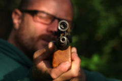 target shooting with air gun Royalty Free Stock Photography