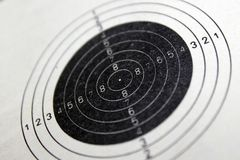 Target for shooting from Air Rifle. Target for shooting at 10 meters from an air rifle Royalty Free Stock Images
