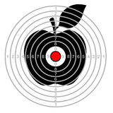 Target shooting apple Stock Image