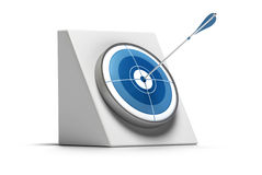 Target shooting - arrow hitting the center Stock Image