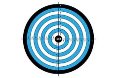 Target shooting in blue and black colors. Stock Image