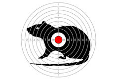 Target shooting in the center with a mouse vector. Royalty Free Stock Photos