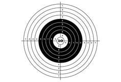 Target shooting classical black color. Target shooting classical black color Royalty Free Stock Photography