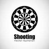 Target shooting design. Vector illustration eps10 graphic Royalty Free Stock Photo