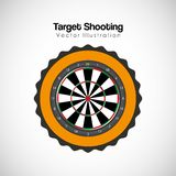 Target shooting design. Vector illustration eps10 graphic Royalty Free Stock Photos