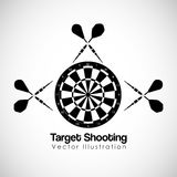 Target shooting design. Vector illustration eps10 graphic Royalty Free Stock Photography