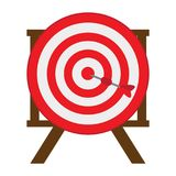 Target shooting game. On a white background, Vector illustration Royalty Free Stock Photography