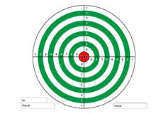 Target shooting green color with red. Target shooting green color with red Royalty Free Stock Photos