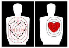 Target-shooting with a heart Royalty Free Stock Photos