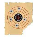 Target shooting isolated illustration. On white background Stock Image