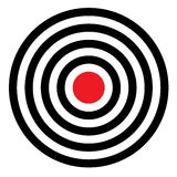 Target shooting range. Isolated. vector Royalty Free Stock Image