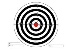 Target shooting with red centre, vector. Target shooting with red centre, vector Royalty Free Stock Photos