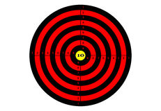Target shooting in red color. Target shooting in red color Royalty Free Stock Image