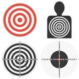 Target for shooting, set of sports targets. Flat design,  illustration Stock Photo