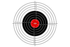 Target shooting simple, vector. Target shooting simple on white background, vector Stock Photos