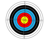 Target shooting. In three colors sport Stock Images