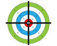 Target shooting vector. For shooting gallery Royalty Free Stock Photography