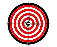 Target shooting vector for shooting gallery.  Royalty Free Stock Photos