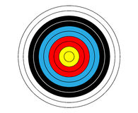 Target shooting vector for shooting gallery.  Stock Image