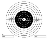 Target shooting vector for shooting gallery.  Royalty Free Stock Image
