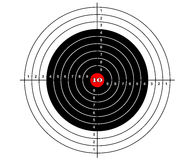 Target shooting vector. For sport play Royalty Free Stock Photography