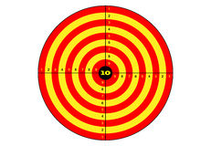 Target shooting, vector, target in yellow and orange color. Target shooting, vector, target in yellow and orange color Royalty Free Stock Photo