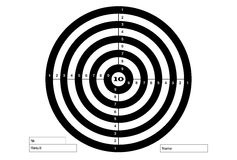 Target for shooting, vector, in white and black colors. Stock Photos