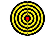 Target shooting in yellow and black color. Target shooting in yellow and black color Royalty Free Stock Photo