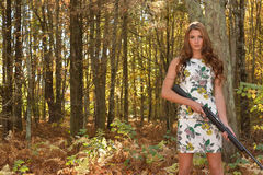 Target shooting. Royalty Free Stock Photos