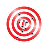 Target With Shots Stock Image