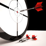 Target Shows Accurate Successful Winning Shot Royalty Free Stock Photography