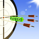 2016 Target Shows Business Plan Forecast Stock Photo