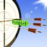 2016 Target Shows Business Plan Forecast. 2016 Target Showing Business Plan Progress Forecast Stock Photo