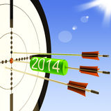 2014 Target Shows Business Plan Forecast. 2014 Target Showing Business Plan Progress Forecast Stock Image