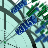 2015 Target Shows Year Projected Profit Growth. 2015 Target Showing Year Projected Profit Growth Stock Photo