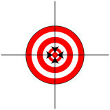 Target Sign with Crosshairs Stock Photo