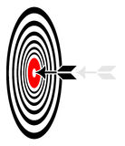Target. Simple illustration of target board on white background royalty free illustration